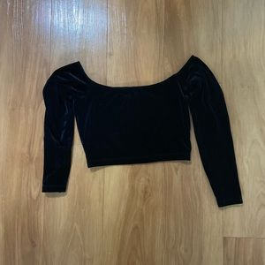 Velour Crop Top